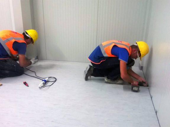 montaggio modulo prefabbricato
